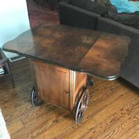 Antique combination tea wagon/liquor cabinet for sale ...