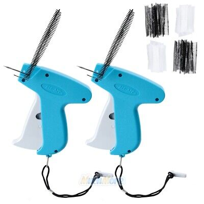 2 Garment Clothing Price Label Tagging Tag Tagger Gun 4000 Barbs 4 Needles