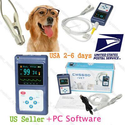 Dogcat Pulse Oximeter Tongueear Blood Oxygen Meter Veterinary Spo2 Pr Monitor