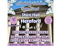 Absolutely Fabulous Vegan vent Shire Hall Hereford