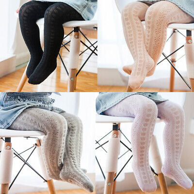 Baby Girl Kids Cotton Knitted Tights Pantyhose Stockings Socks Pants Trousers - Girls Cotton Tights