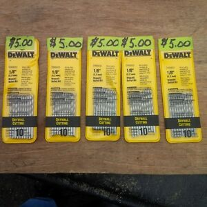 100 DEWALT DRYWALL CUTTING BITS IN PACKS OF 10 FOR $5  PER PACK