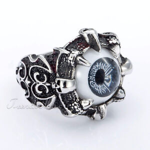 Dragon Claw Eyeball Ring - Size 9 OR 10