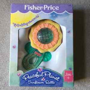 BRAND NEW FISHER PRICE PEACEFUL PLANET SUNFLOWER RATTLE