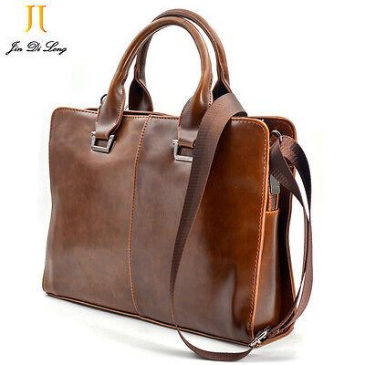 Leather Package - Travel business package Mens Leather Briefcase Laptop Bag Shoulder Work bag