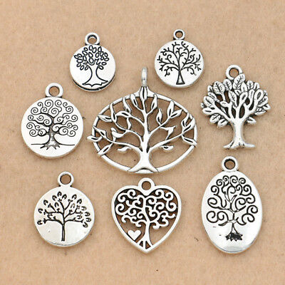 - Antique Silver Tree of Life Charm for Jewelry Making Charm Bracelet Accessories
