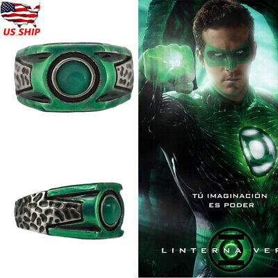 Xcoser Green Lantern Corps Ring Movie Cosplay Costume Accessories Jewelry Gifts