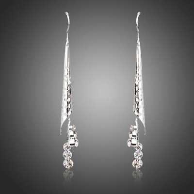 New Genuine Clear Swarovski Crystals Element Drop Dangle Chandelier Earrings