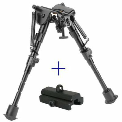 6  To 9  Compact Spring Return Sniper Hunting Rifle Bipod   Picatinny Rail Mount