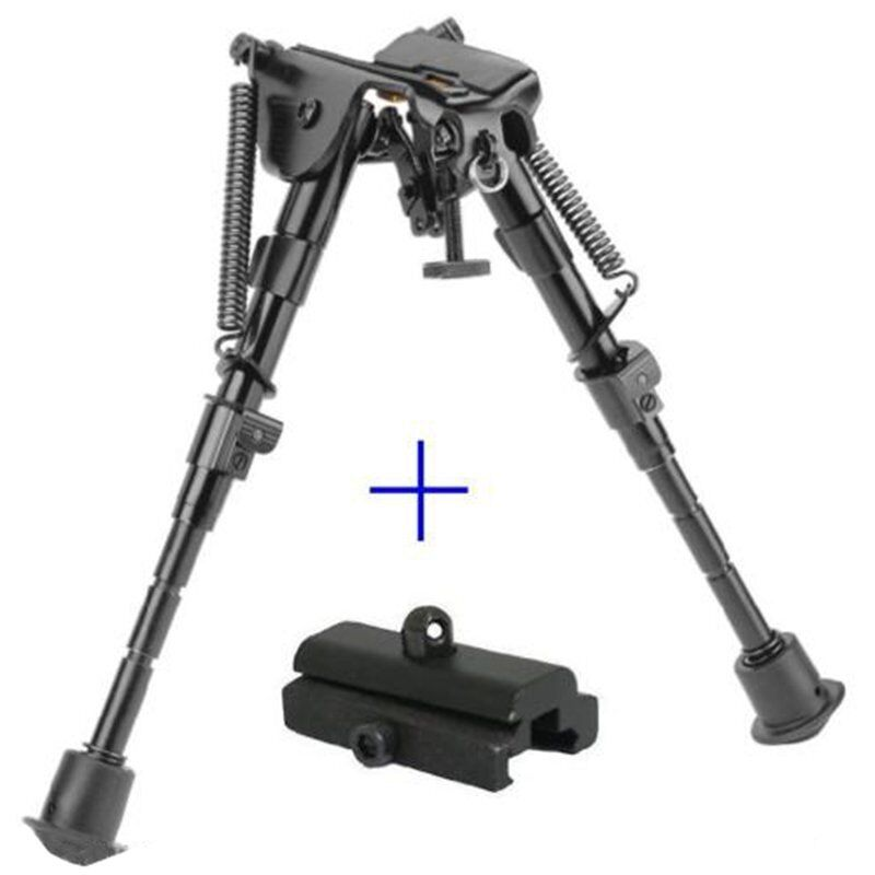 "6"" to 9"" Compact Spring Return Sniper Hunting Rifle Bipod +"