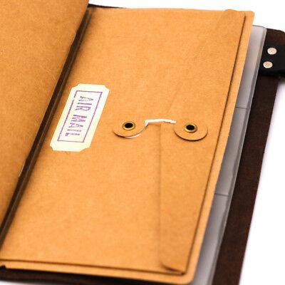Classic Kraft Paper Inner Sheet Traveler Notebook Envelope Folder File Bag