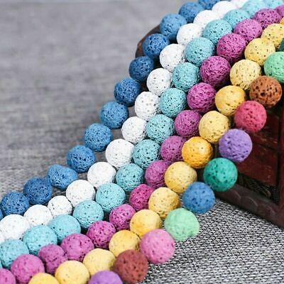 Großhandel Farbe Stein Lava 8 MM Lose Perlen Für Halskette Armbänder DIY Schmuck