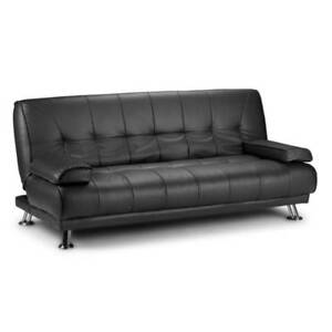 Futon Style Deluxe PU Leather Lounge Sofa Bed in Black $450, free