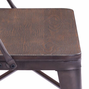 INDUSTRIAL WOODEN SEAT DINING CHAIR, BAR STOOL BENCH Peterborough Peterborough Area image 5