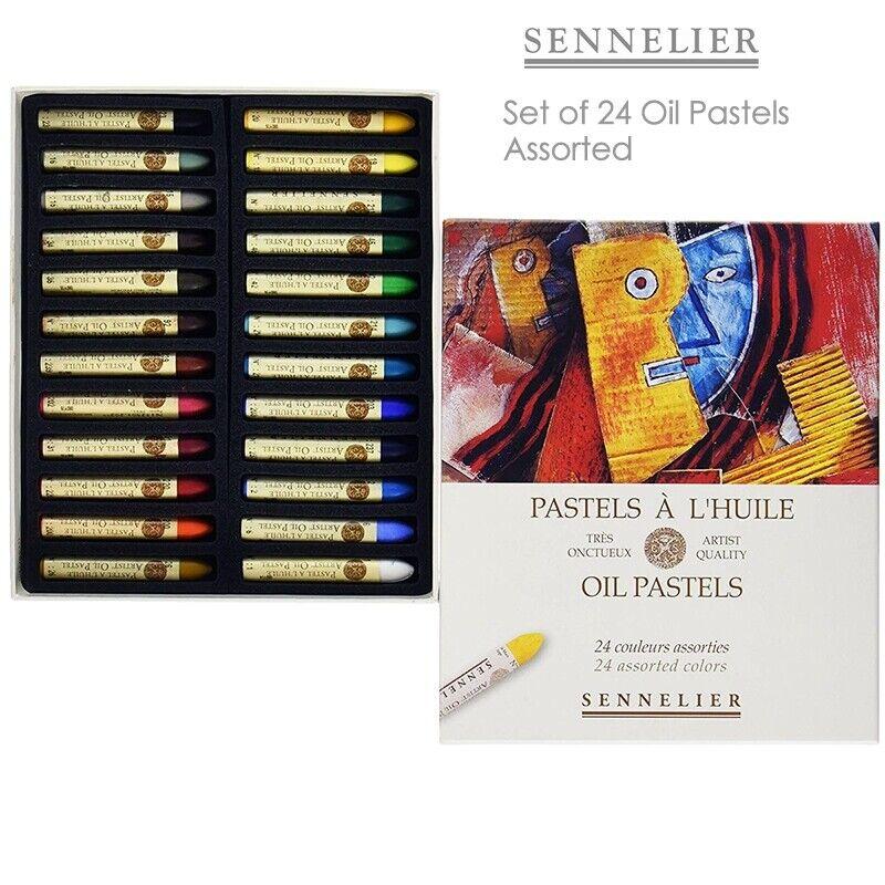 Sennelier Oil Pastels Cardboard Box Set of 24 Standard - Assorted Colors
