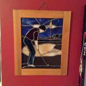 Stained glass golf picture