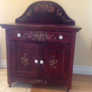 Tole Painted Cupboard