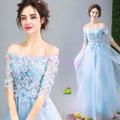 Petal Fairy Dress - Blue Dreamlike Petals Princess Fairy Dress Girl Elegant Patry Prom Evening Dress