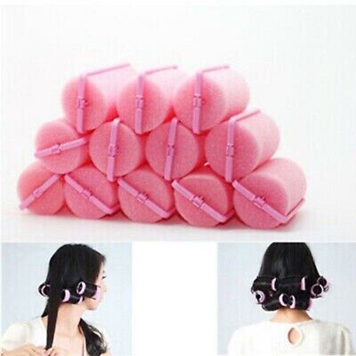 SPONGE CURLERS TWIST TOOLS FOAM ROLLERS CUSHION MAGIC 12 PCS CHEAP HAIR STYLING