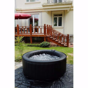 NEW! 8 PERSON INFLATABLE OUTDOOR HOT TUB PUMP  KIT INCLUDED