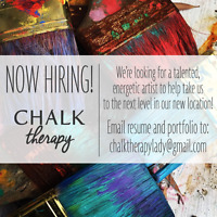 Chalk Therapy is now hiring local artists!