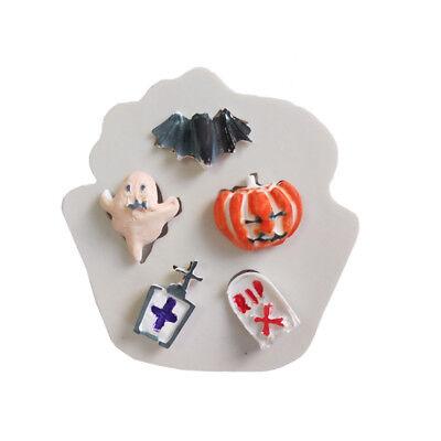 Pumpkin/Ghost Design Silicone Baking Cake Mold Halloween Fondant Ornaments QP