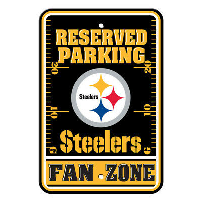 NFL Pittsburgh Steelers Home Room Office Bar Decor Parking Sign Fan Zone (Pittsburgh Steelers Zone Sign)