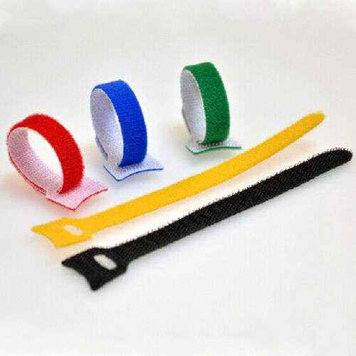 Lot 150*12 mm Cable Ties Fastening Tape Strap Reusable Tie Hooks and Loops R2D8