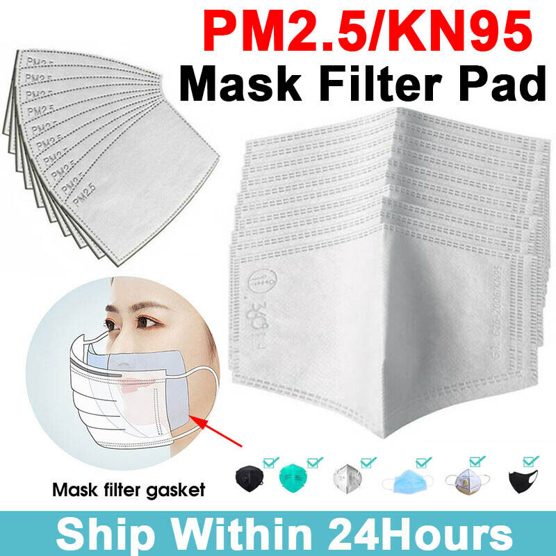 5-100x Filters for Mask Insert Replaceable Adult Anti Haze Mouth Filter Pads