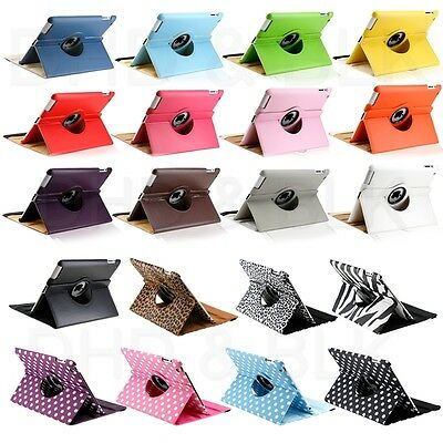 For Apple iPad 2/3/4 360 Rotating Magnetic PU Leather Case Smart Cover Stand