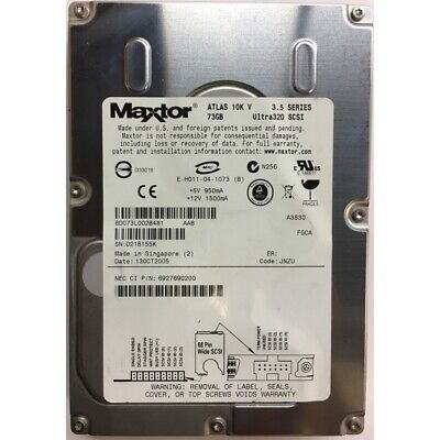 NEC 73GB, 10K RPM, SCSI, U320 68 pin - 6927690200 73gb 10k Rpm U320 Scsi