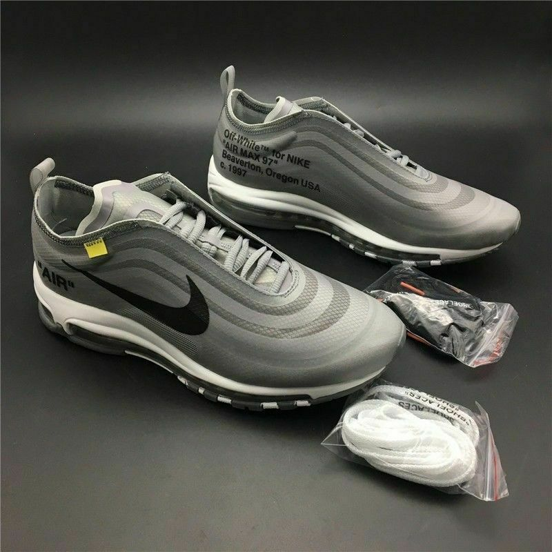 buy popular 5b90b 78efd Nike OFF-WHITE x Nike Air Max 97 the ten OW joint - gray and white - ALL  Sizes - FREE DELIVERY