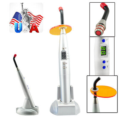 Newest Dental 10w 2000mw Wireless Cordless Led Curing Light Lamp Silver Dentist