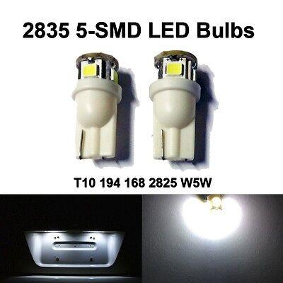 2 x T10 194 186 2825 W5W Xenon White 2835 5-SMD Tag License Plate Light Bulbs