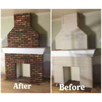 STONE WORK &  FIREPLACE MAKEOVERS