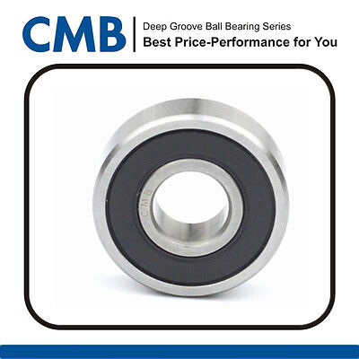1pc 6000-2rs Rubber Sealed Ball Bearings Abec 1 Miniature Bearings 10x26x8mm New