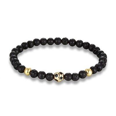 Soccer Football Charm Bracelet Men Nature Stone Bead Fashion Sport Jewelry Style - Soccer Bracelet