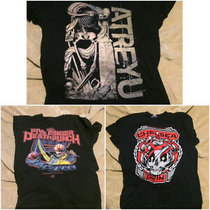 Metal band shirts + sweaters