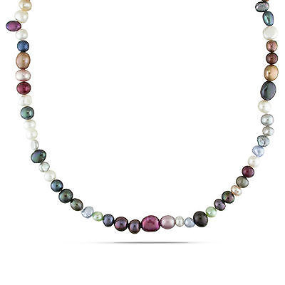 8mm Multi Color Pearl Necklace (Amour 5-8 mm Multi-Color Cultured Freshwater Pearl Endless Necklace Strand 36