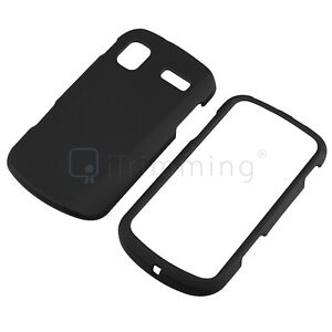 Black Rubber Coated Hard Case Cover For Samsung AT&T Focus SGH i917 Cell Phone