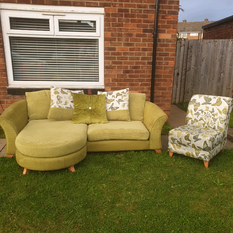 Dfs Woodland Accent Chair: Dfs Daphne 4 Seater Lounger Sofa & Accent Chair. Excellent