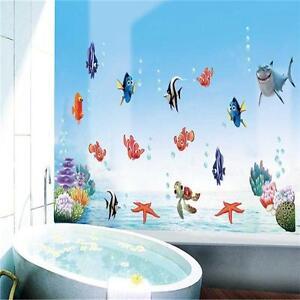 DIY Removable Ocean Sea Fish Vinyl Art Wall Sticker Mural Decal For Bathroom UK