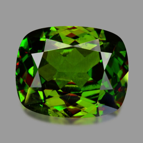 2.20cts EXCELLENT CUSHION CUT AFGHAN CHROME GREEN SPHENE VIDEO IN DESCRIPTION