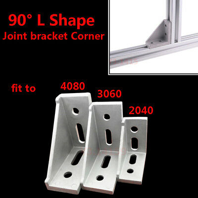 90l Shape Joint Corner Bracket Connector Fit 204030604080 Aluminum Profile