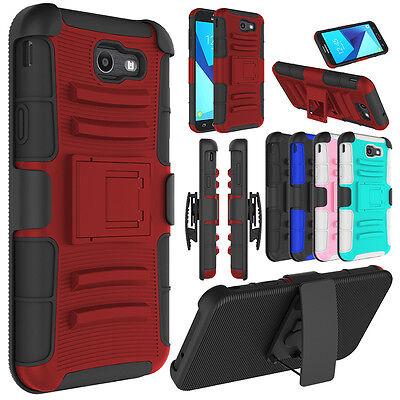 For Samsung Galaxy J7 V /J7 Sky Pro/ J7 Prime Case Belt Clip Holster Stand Cover