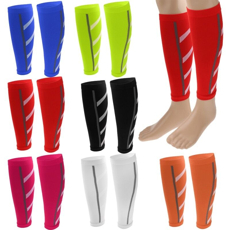 Calf Compression Sleeve Leg Support Socks Guard Running Athl