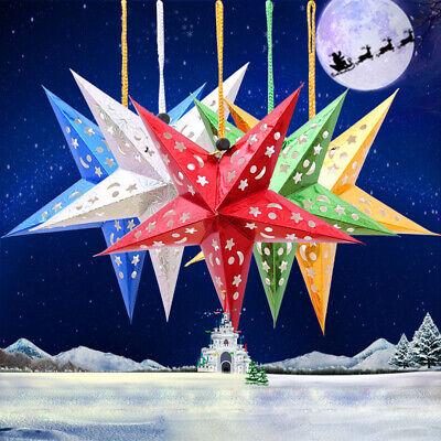 Pentagramm Schnur Hängender Stern Weihnachten Ornament Party Bunt Dekor Neu