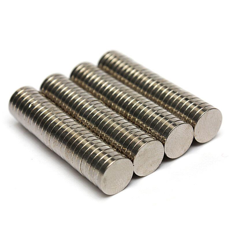 Neodym Magnete super stark Scheiben Würfel N35 N45 N50 doppelt vernickelt Scheibe - Ø 4 X 1mm