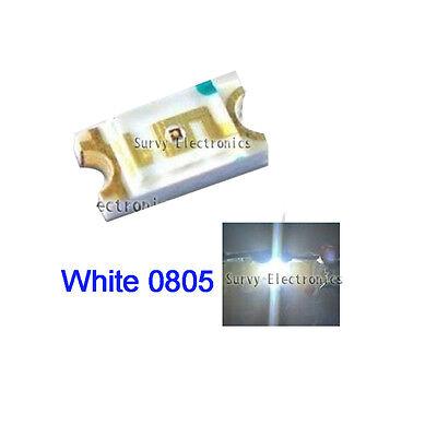 50 Pcs 0805 White Super Bright Smd Smt Led New