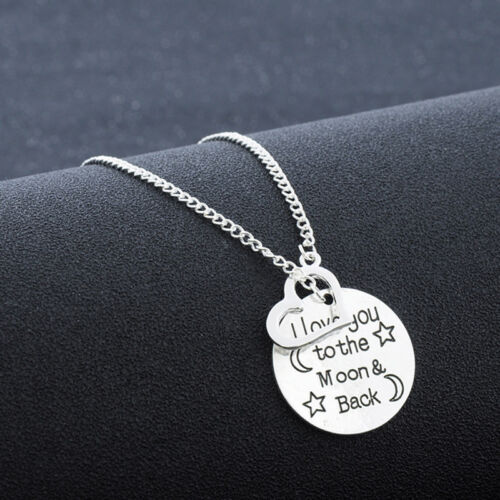 Fashion Unisex 316L Stainless Steel Love Chain Necklace Pendant Hot Gift GX1283